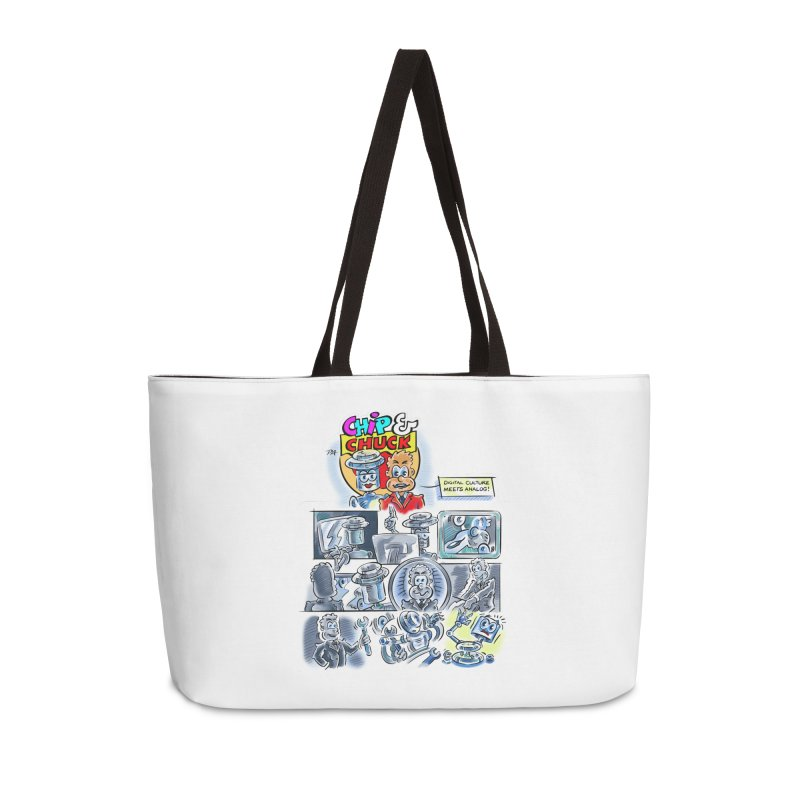 Chip & Chuck Analog Accessories Weekender Bag Bag by thethinkforward's Artist Shop