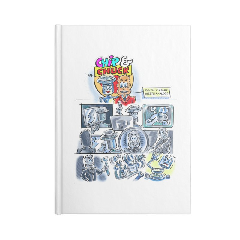 Chip & Chuck Analog Accessories Notebook by thethinkforward's Artist Shop