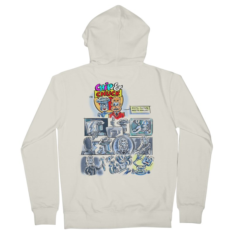 Chip & Chuck Analog Men's Zip-Up Hoody by thethinkforward's Artist Shop
