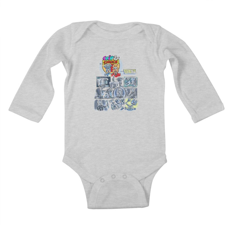Chip & Chuck Analog Kids Baby Longsleeve Bodysuit by thethinkforward's Artist Shop