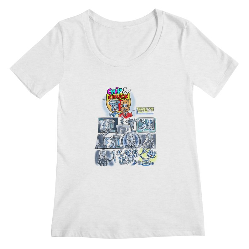 Chip & Chuck Analog Women's Scoopneck by thethinkforward's Artist Shop