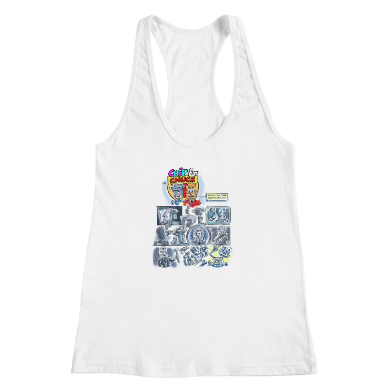 Chip & Chuck Analog Women's Racerback Tank by thethinkforward's Artist Shop