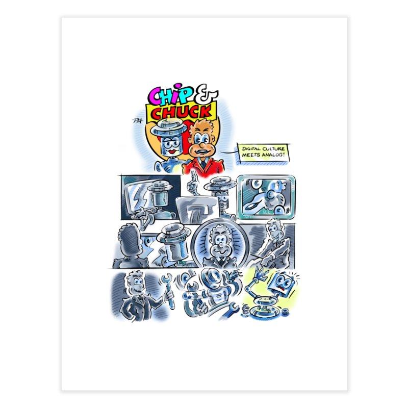 Chip & Chuck Analog Home Fine Art Print by thethinkforward's Artist Shop