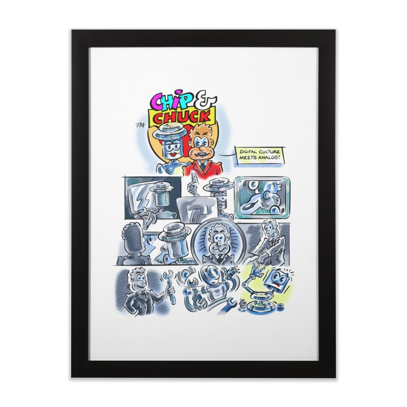 Chip & Chuck Analog Home Framed Fine Art Print by thethinkforward's Artist Shop