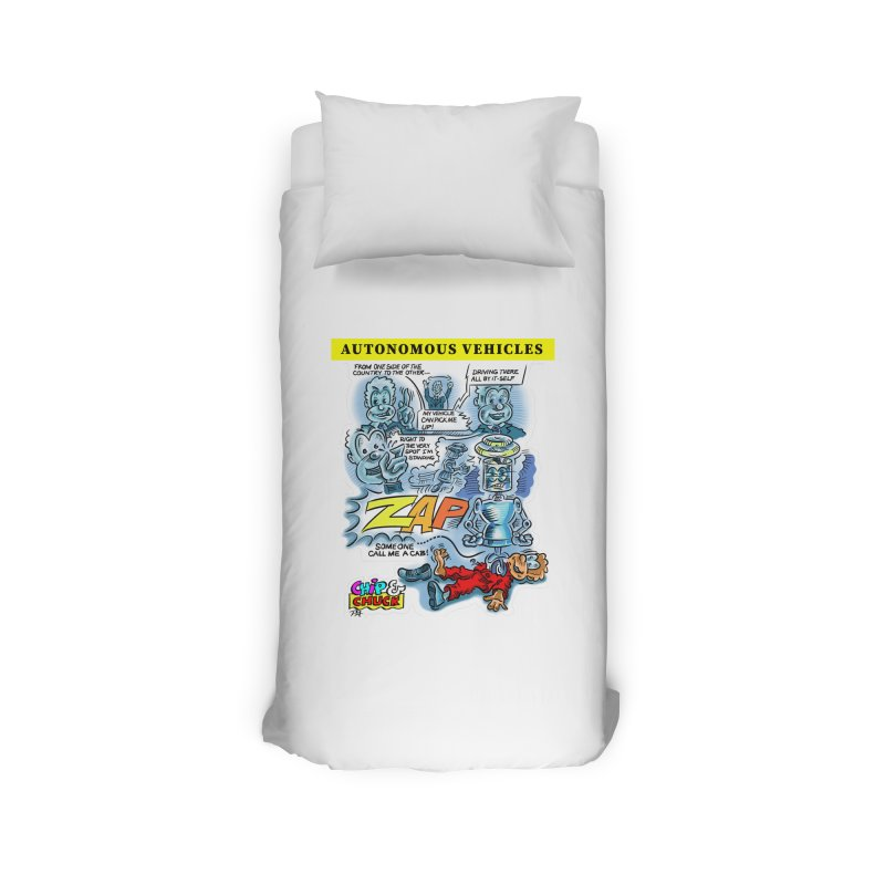 CHIP goes driving Home Duvet by thethinkforward's Artist Shop