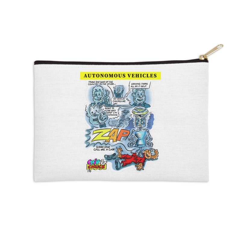 CHIP goes driving Accessories Zip Pouch by thethinkforward's Artist Shop