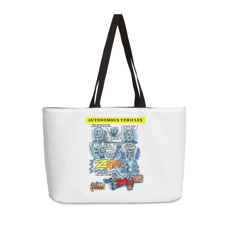 CHIP goes driving Accessories Weekender Bag Bag by thethinkforward's Artist Shop