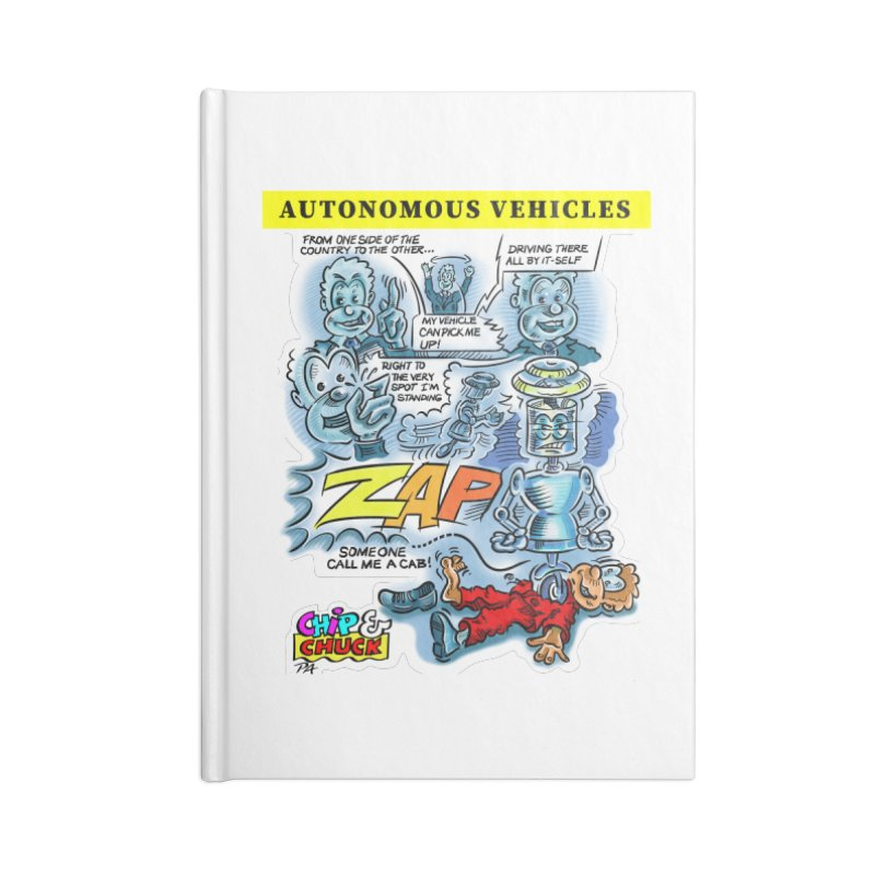 CHIP goes driving Accessories Notebook by thethinkforward's Artist Shop