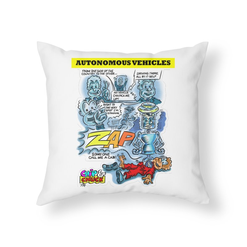 CHIP goes driving Home Throw Pillow by thethinkforward's Artist Shop