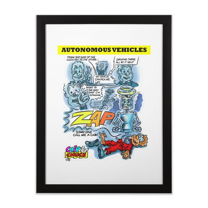 CHIP goes driving Home Framed Fine Art Print by thethinkforward's Artist Shop