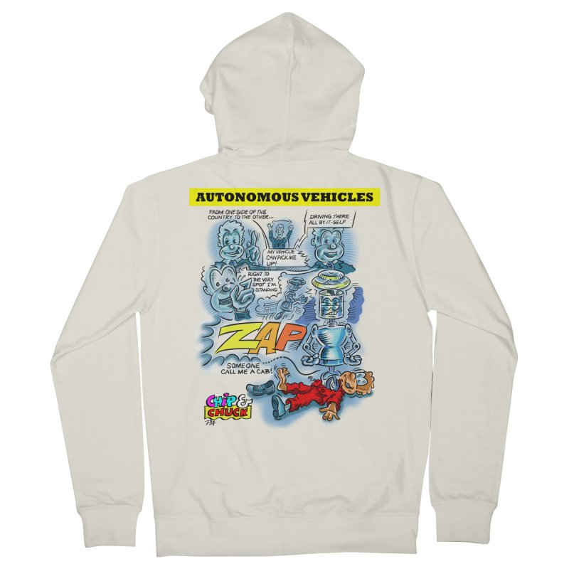 CHIP goes driving Men's Zip-Up Hoody by thethinkforward's Artist Shop