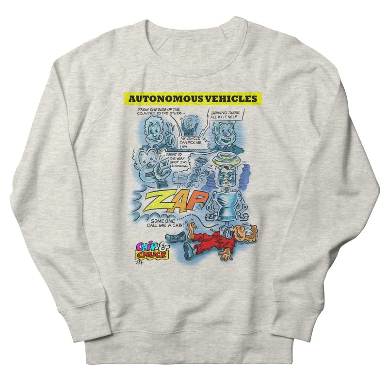 CHIP goes driving Men's French Terry Sweatshirt by thethinkforward's Artist Shop