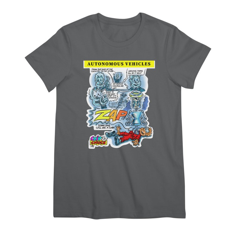 CHIP goes driving Women's Premium T-Shirt by thethinkforward's Artist Shop