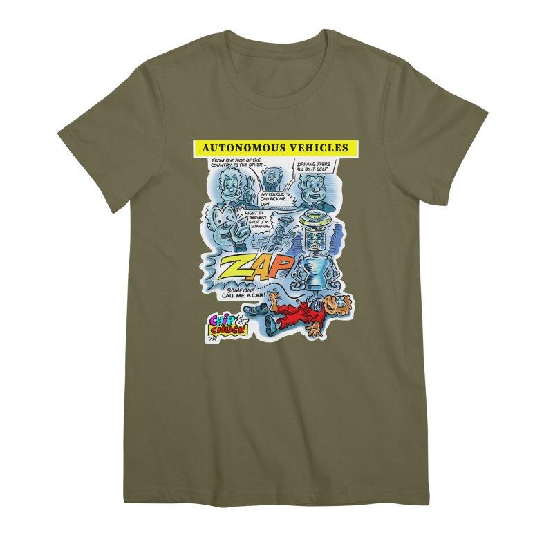 CHIP goes driving Women's Premium T-Shirt by thethinkforward's Artist Shop