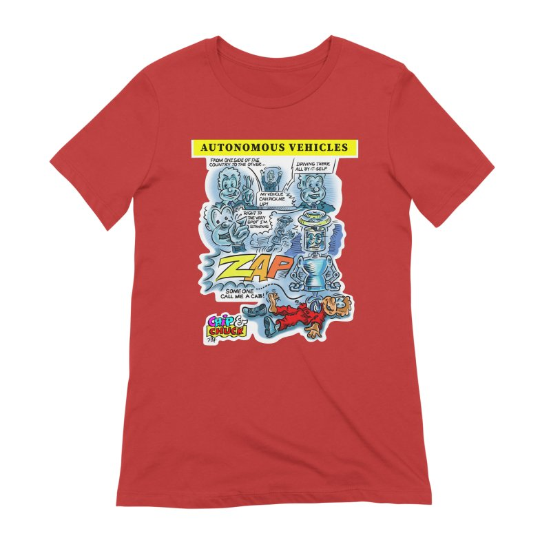 CHIP goes driving Women's Extra Soft T-Shirt by thethinkforward's Artist Shop