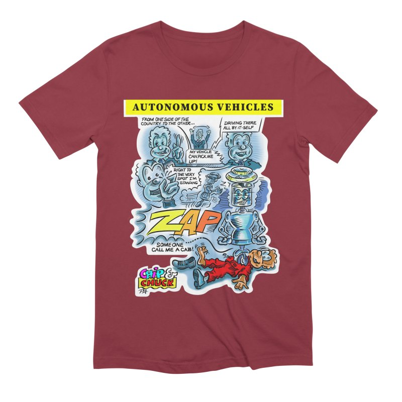 CHIP goes driving Men's Extra Soft T-Shirt by thethinkforward's Artist Shop