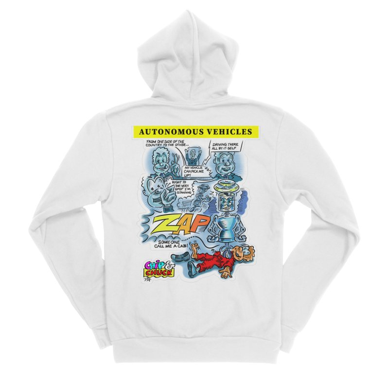 CHIP goes driving Women's Sponge Fleece Zip-Up Hoody by thethinkforward's Artist Shop