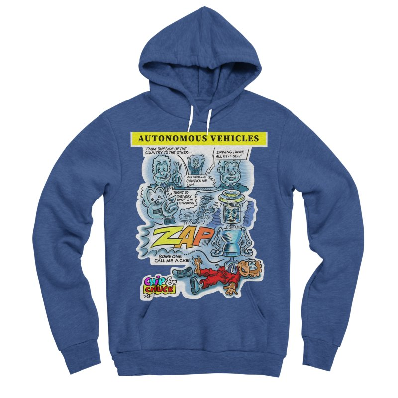 CHIP goes driving Women's Sponge Fleece Pullover Hoody by thethinkforward's Artist Shop
