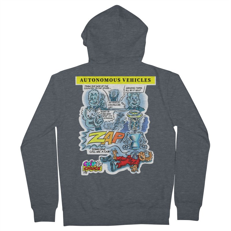 CHIP goes driving Women's French Terry Zip-Up Hoody by thethinkforward's Artist Shop