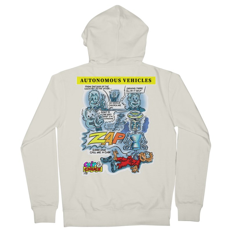 CHIP goes driving Men's French Terry Zip-Up Hoody by thethinkforward's Artist Shop