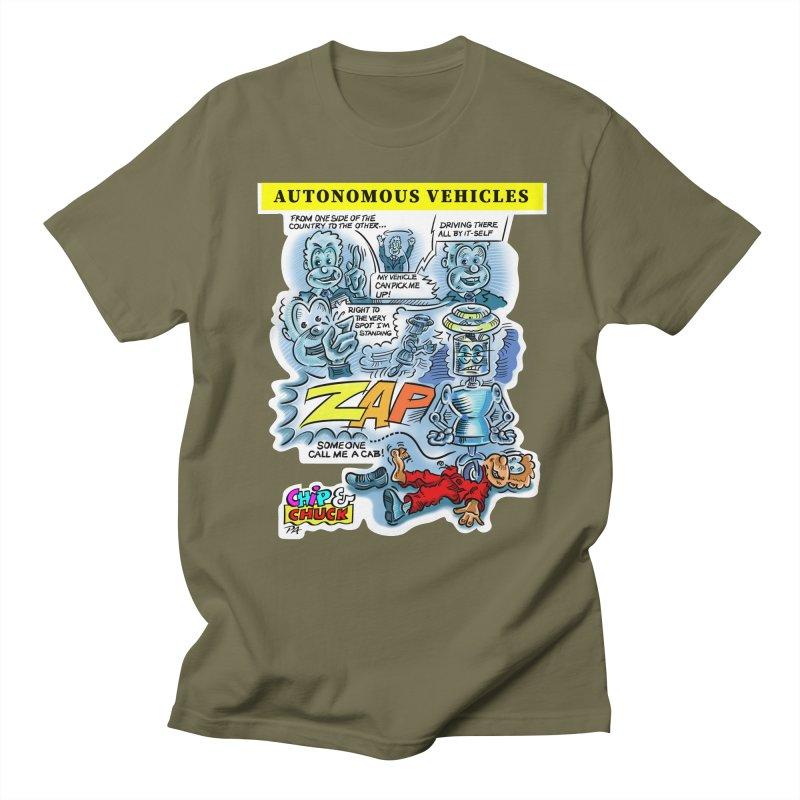 CHIP goes driving Men's Regular T-Shirt by thethinkforward's Artist Shop