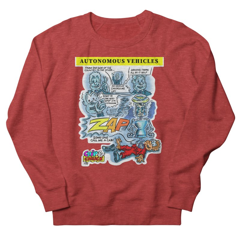 CHIP goes driving Women's French Terry Sweatshirt by thethinkforward's Artist Shop