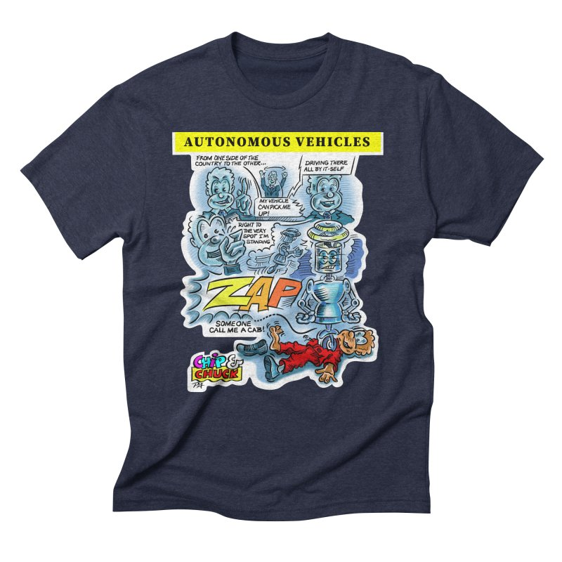 CHIP goes driving Men's Triblend T-Shirt by thethinkforward's Artist Shop