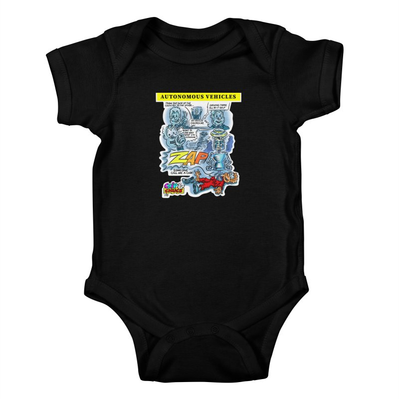 CHIP goes driving Kids Baby Bodysuit by thethinkforward's Artist Shop