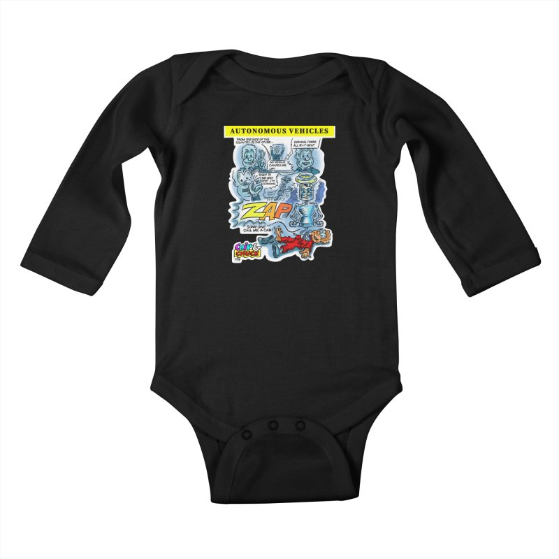 CHIP goes driving Kids Baby Longsleeve Bodysuit by thethinkforward's Artist Shop