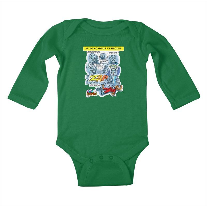 CHIP goes driving Kids Baby Longsleeve Bodysuit by thethinkforward's Artist Shop