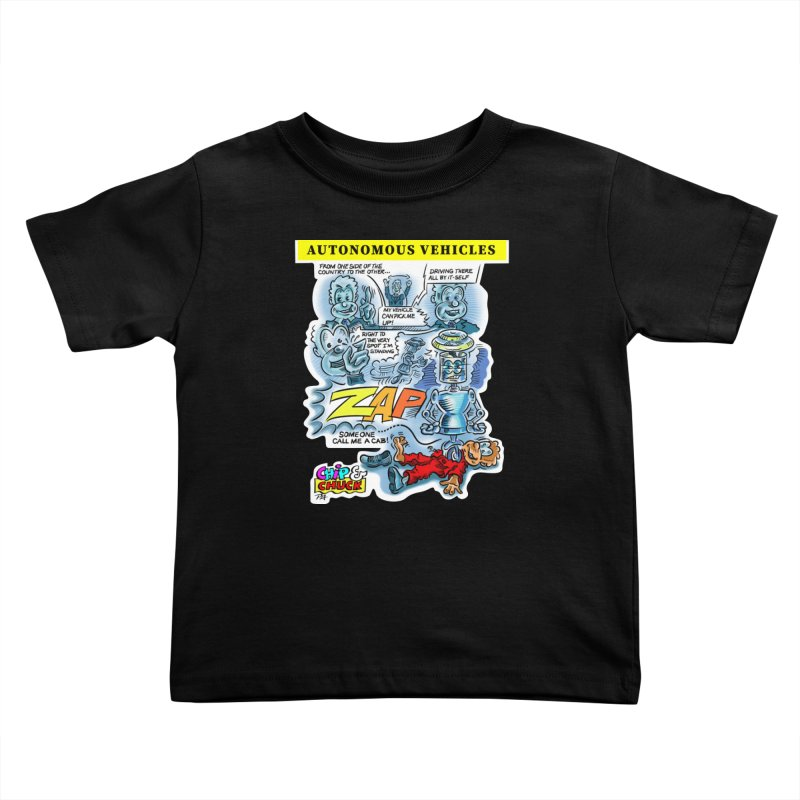 CHIP goes driving Kids Toddler T-Shirt by thethinkforward's Artist Shop