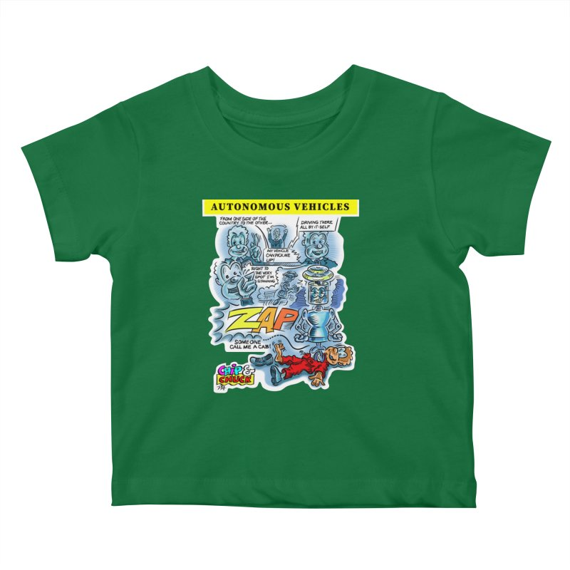 CHIP goes driving Kids Baby T-Shirt by thethinkforward's Artist Shop