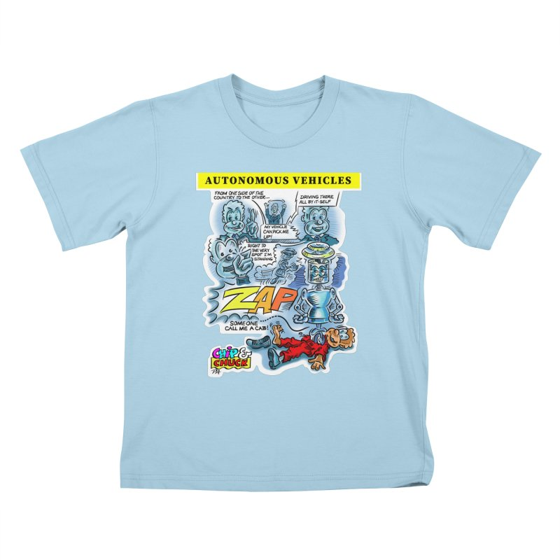 CHIP goes driving Kids T-Shirt by thethinkforward's Artist Shop