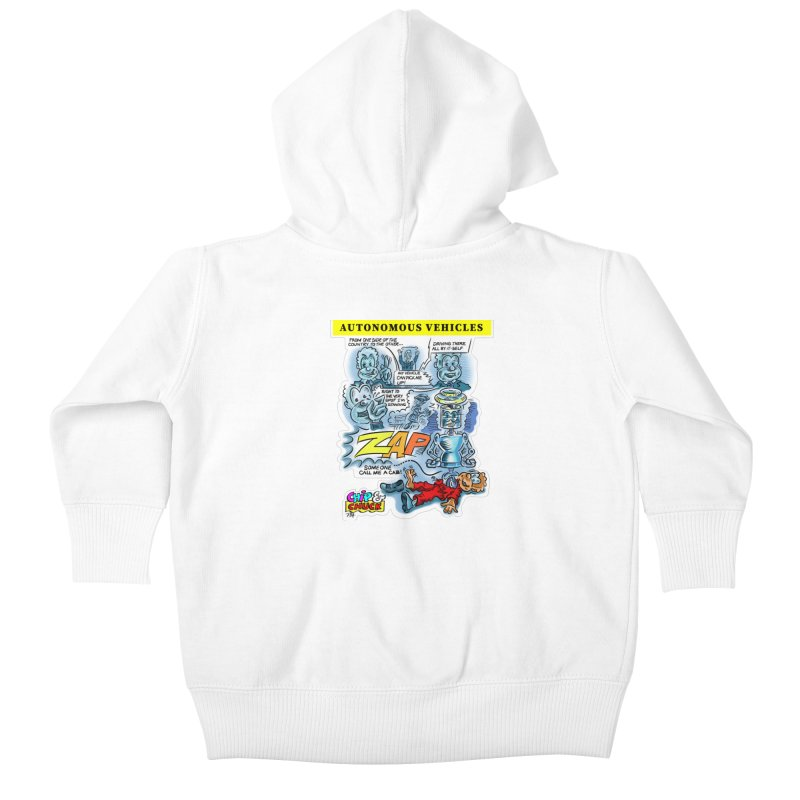 CHIP goes driving Kids Baby Zip-Up Hoody by thethinkforward's Artist Shop