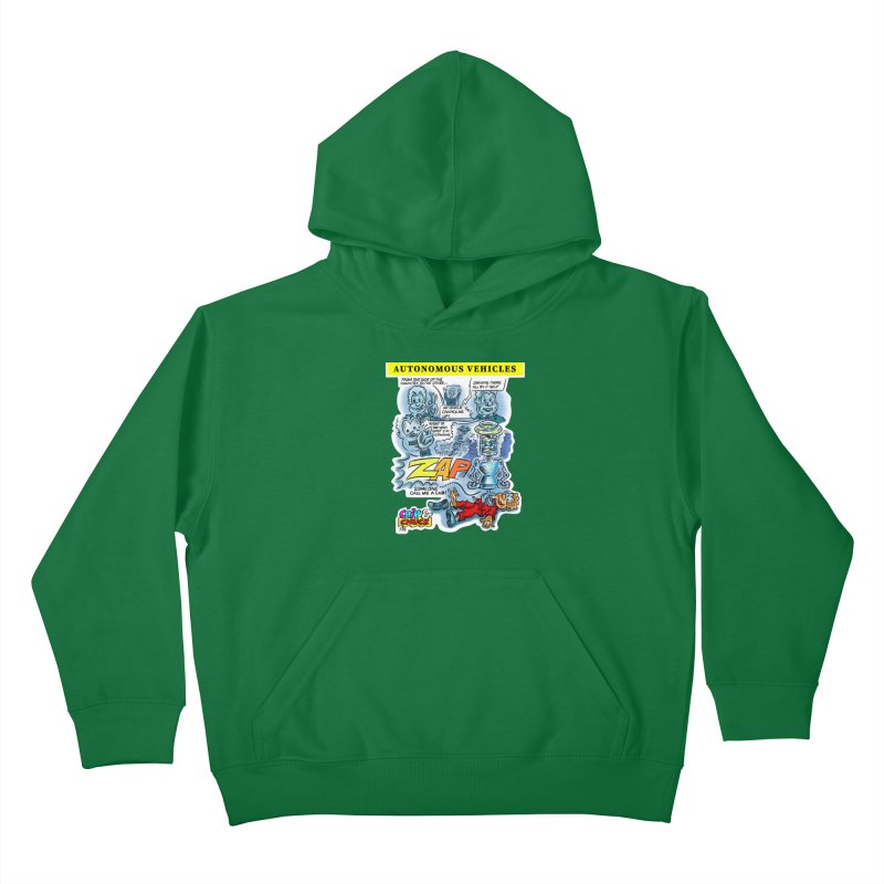 CHIP goes driving Kids Pullover Hoody by thethinkforward's Artist Shop