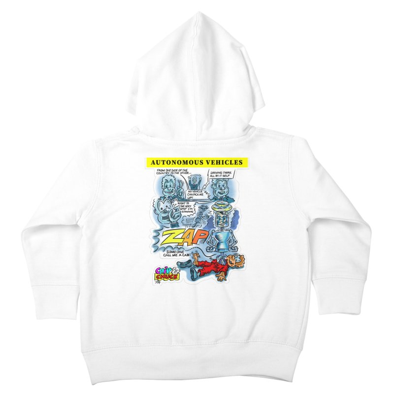 CHIP goes driving Kids Toddler Zip-Up Hoody by thethinkforward's Artist Shop