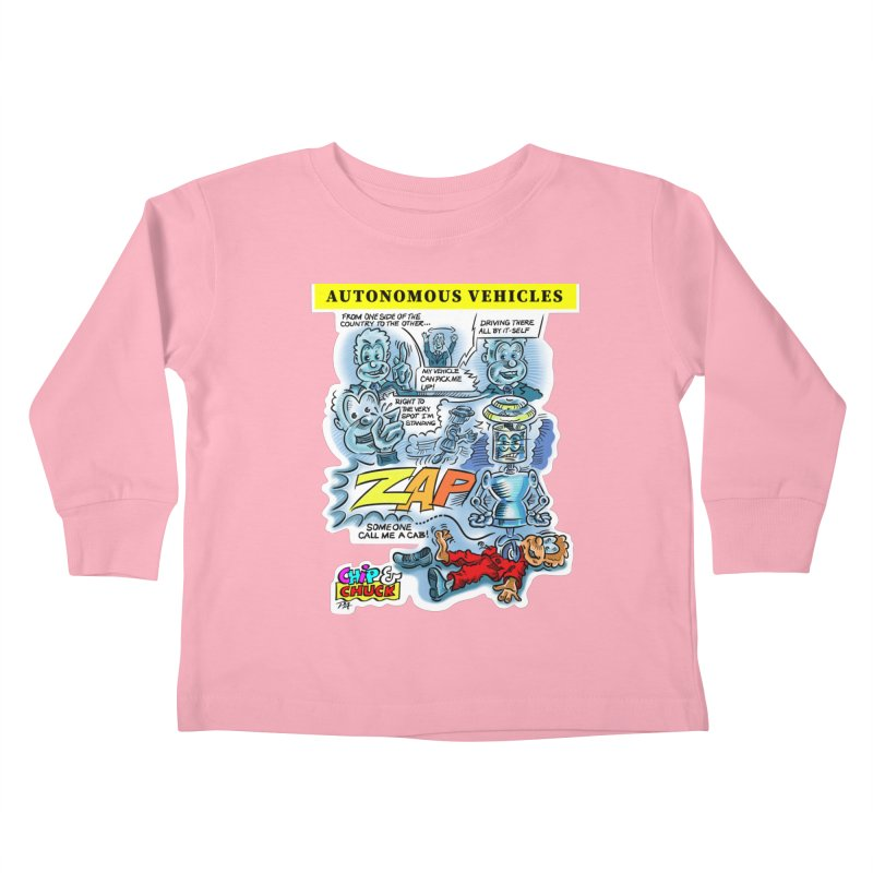 CHIP goes driving Kids Toddler Longsleeve T-Shirt by thethinkforward's Artist Shop