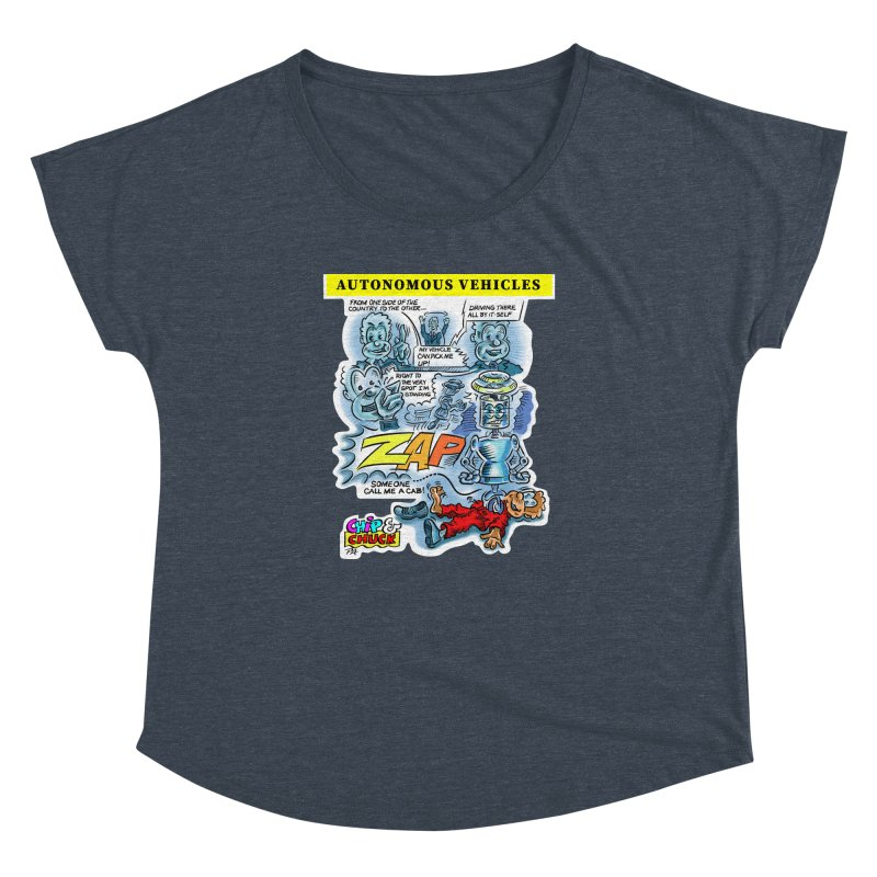 CHIP goes driving Women's Dolman Scoop Neck by thethinkforward's Artist Shop
