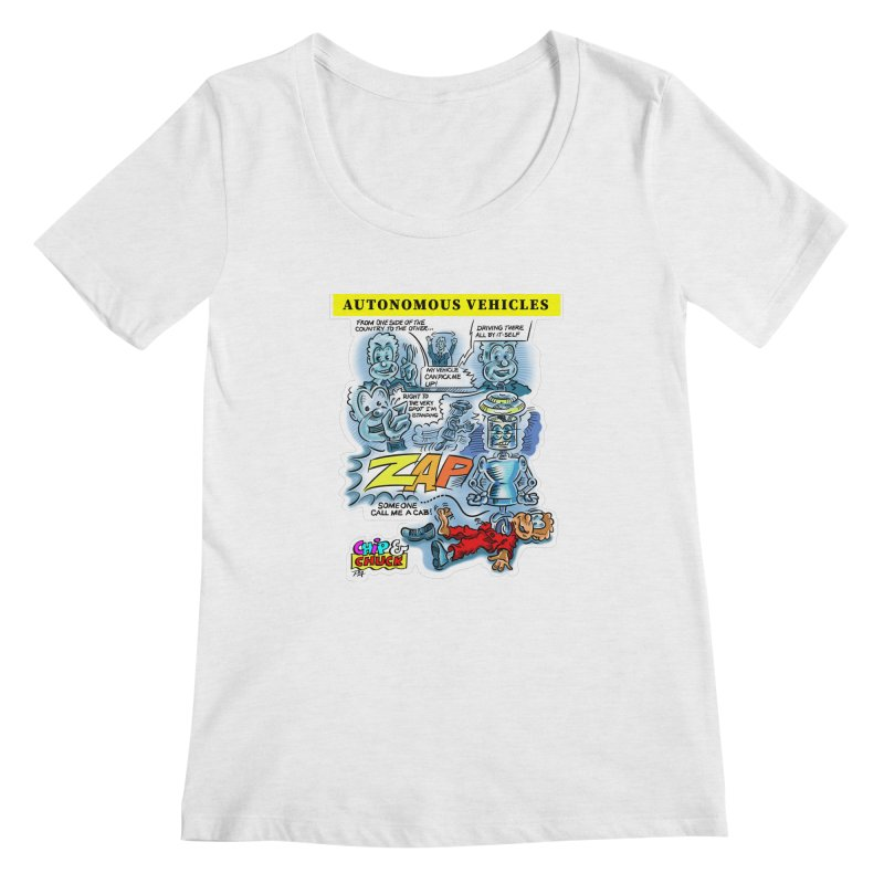 CHIP goes driving Women's Regular Scoop Neck by thethinkforward's Artist Shop