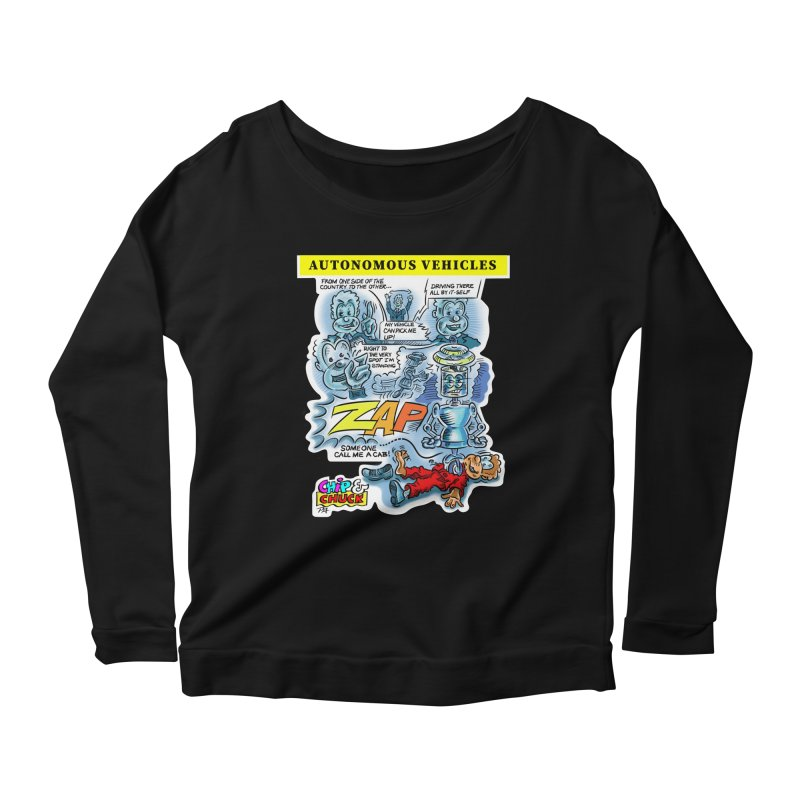 CHIP goes driving Women's Scoop Neck Longsleeve T-Shirt by thethinkforward's Artist Shop