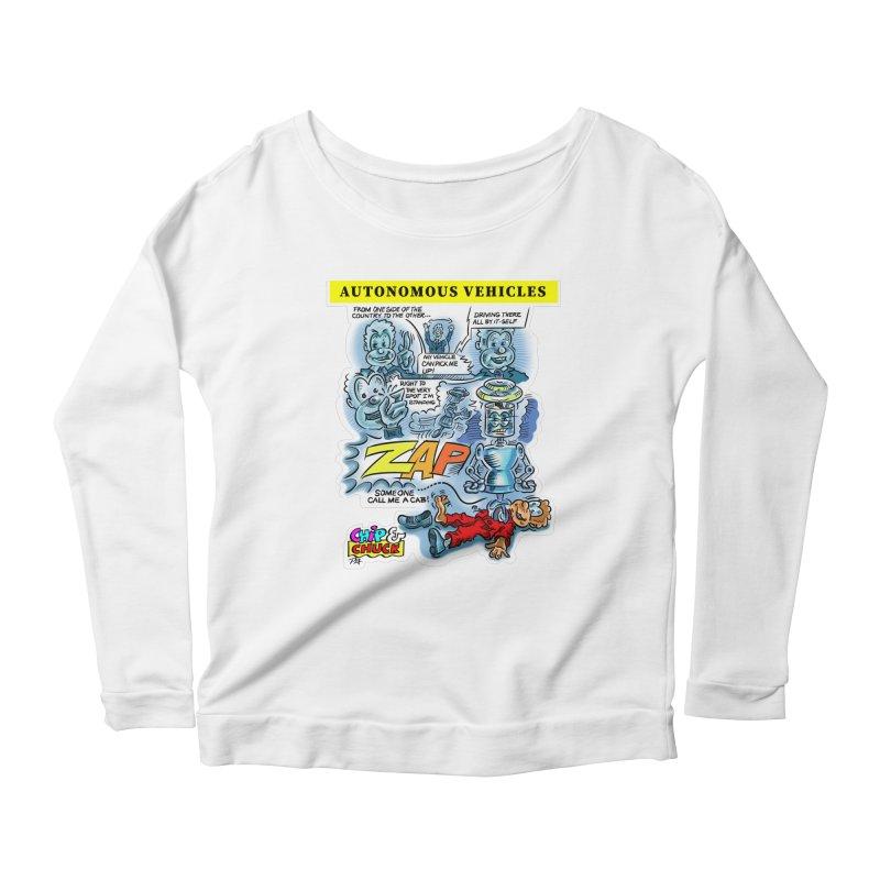 CHIP goes driving Women's Scoop Neck Longsleeve T-Shirt by thethinkforward's Artist Shop