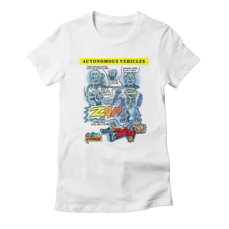 CHIP goes driving Women's Fitted T-Shirt by thethinkforward's Artist Shop