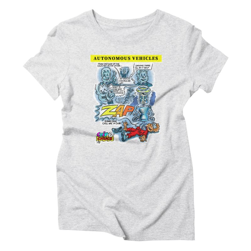 CHIP goes driving Women's Triblend T-Shirt by thethinkforward's Artist Shop