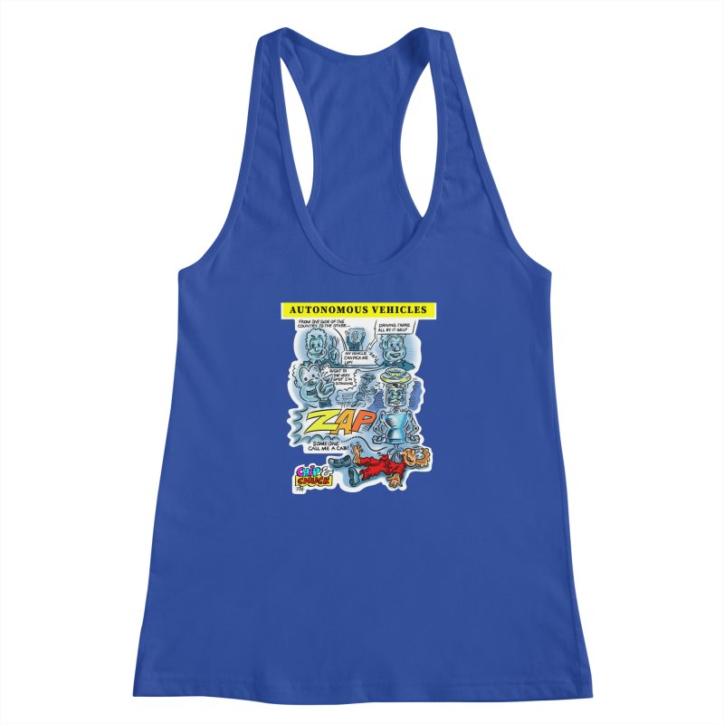 CHIP goes driving Women's Racerback Tank by thethinkforward's Artist Shop
