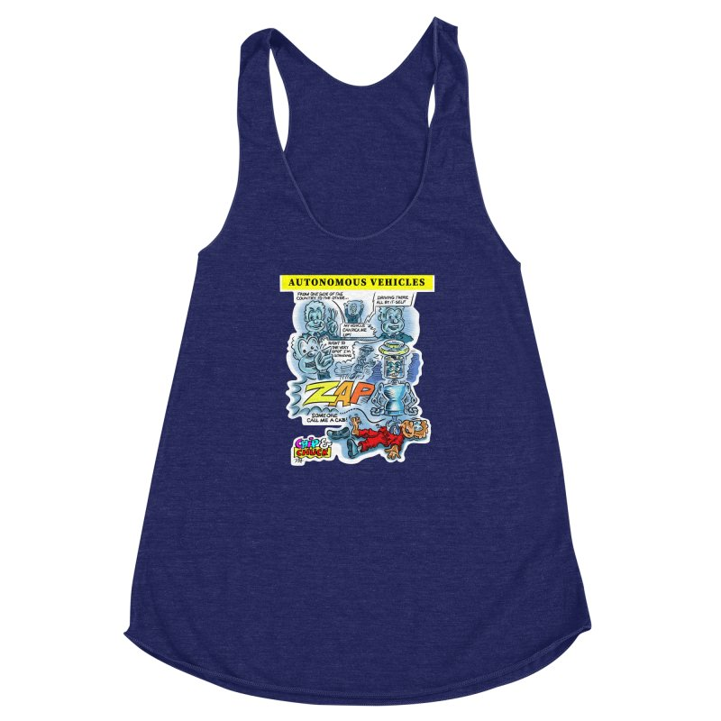 CHIP goes driving Women's Racerback Triblend Tank by thethinkforward's Artist Shop