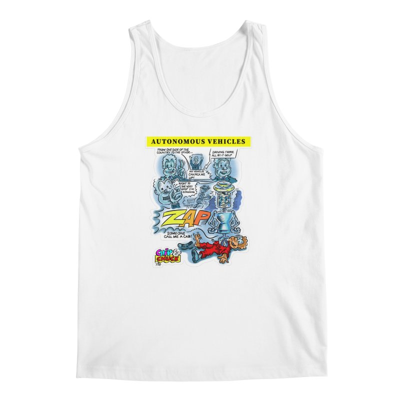 CHIP goes driving Men's Regular Tank by thethinkforward's Artist Shop