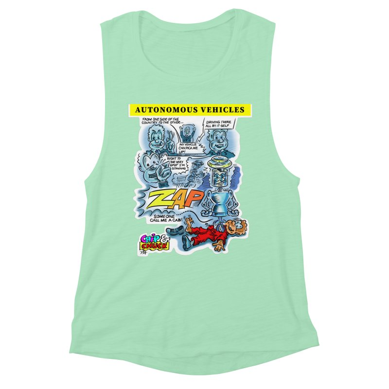 CHIP goes driving Women's Muscle Tank by thethinkforward's Artist Shop