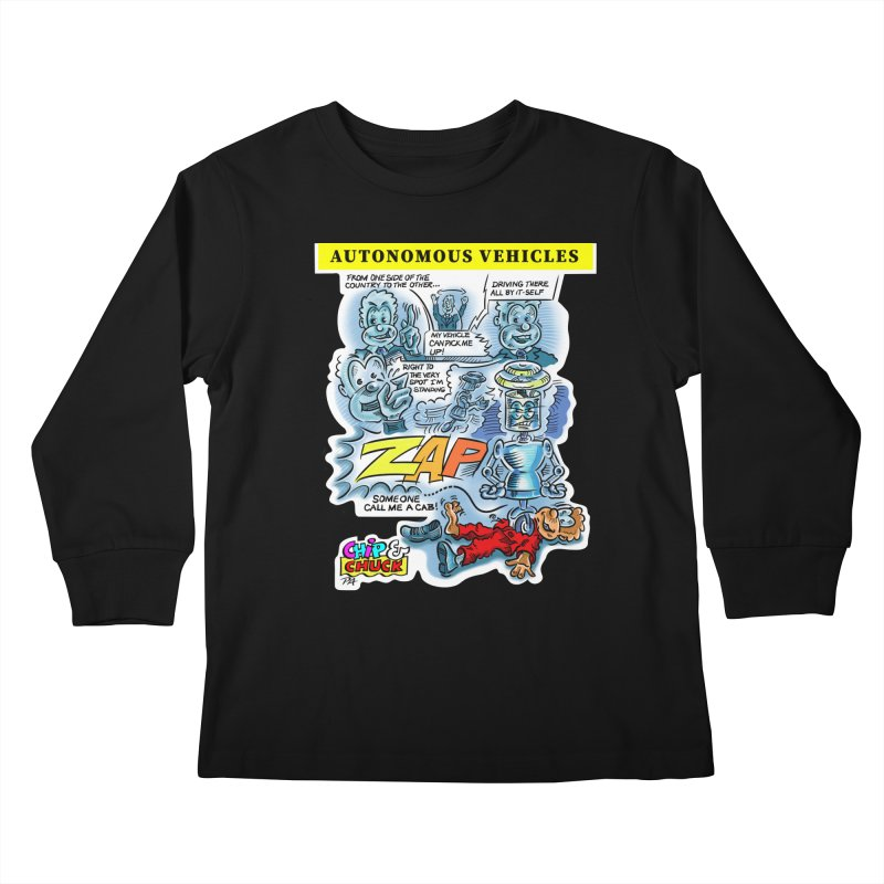 CHIP goes driving Kids Longsleeve T-Shirt by thethinkforward's Artist Shop