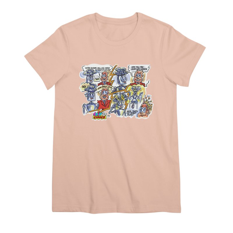 CHIP fly and robot fluid Women's Premium T-Shirt by thethinkforward's Artist Shop