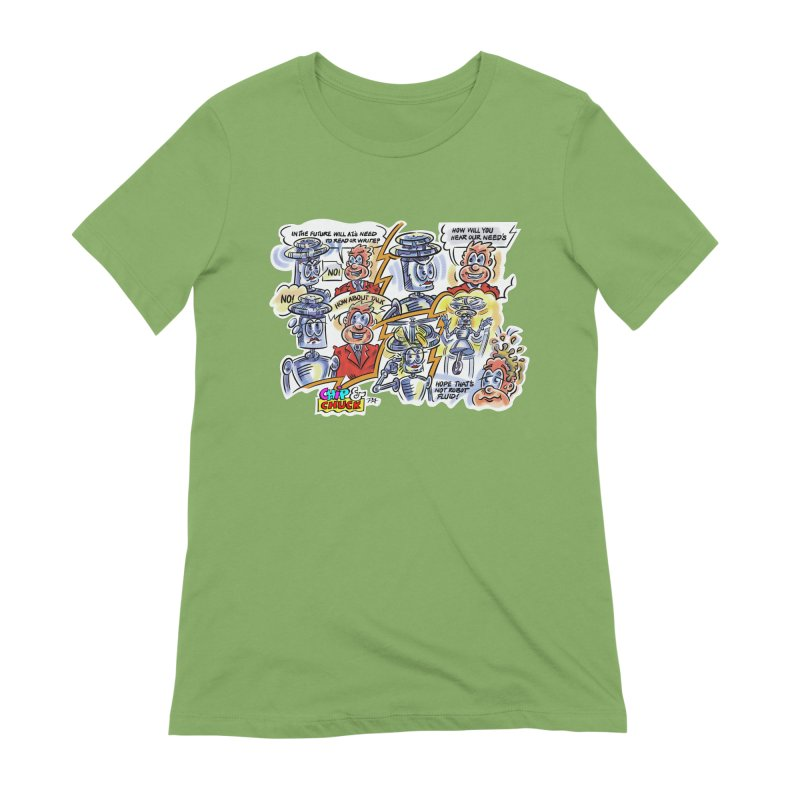 CHIP fly and robot fluid Women's Extra Soft T-Shirt by thethinkforward's Artist Shop